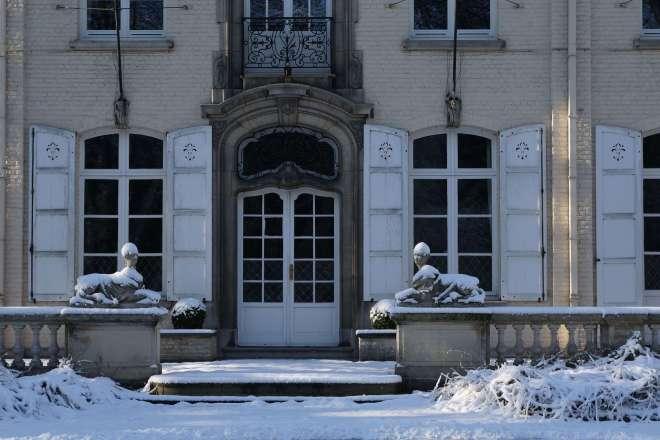 Parc Communal Château du Héron Maison Communale de Rixensart (neige) 12.2014 © Eric de Séjournet - 58