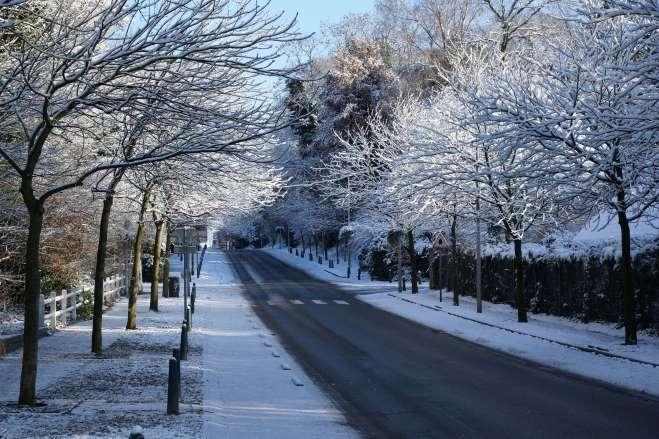 Avenue de Merode Rixensart (neige) 12.2014 © Eric de Séjournet
