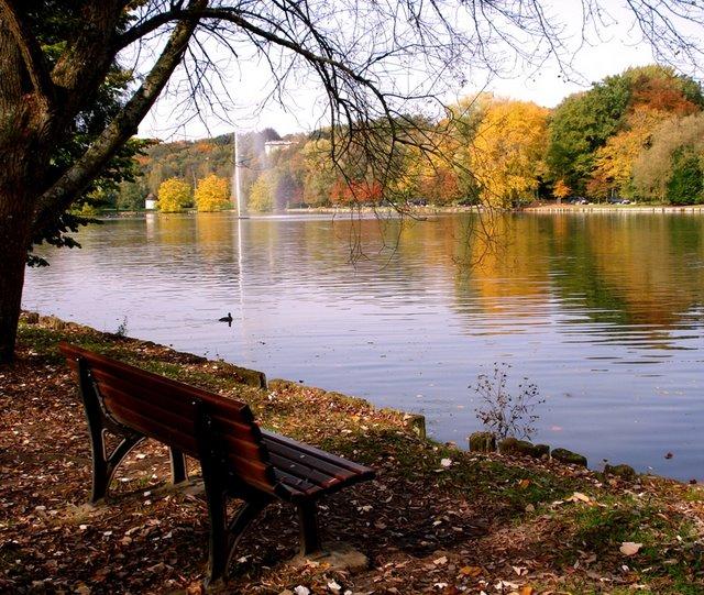 Lac de Genval banc © Liza Papavramides