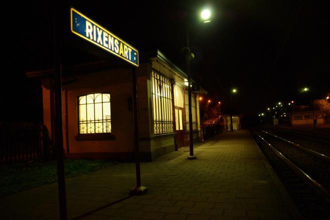 Gare de Rixensart nuit © Eric de Séjournet