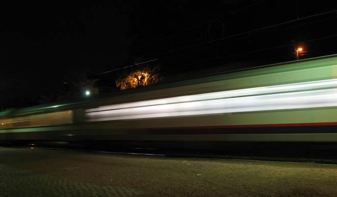 Gare de Rixensart train de nuit © Eric de Séjournet