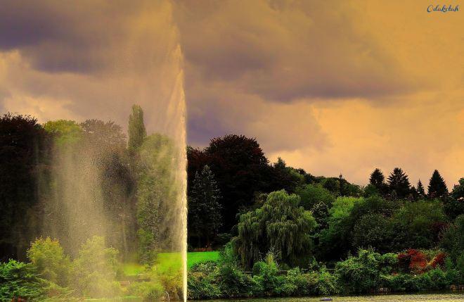 lac de genval (jet d'eau) 9.2012 © michel januarius